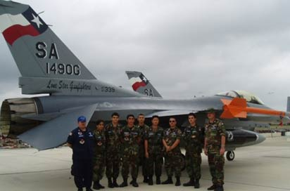 Cadets participating in Aerospace Education